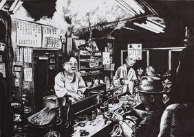 Tokyo restaurant by kinobuta