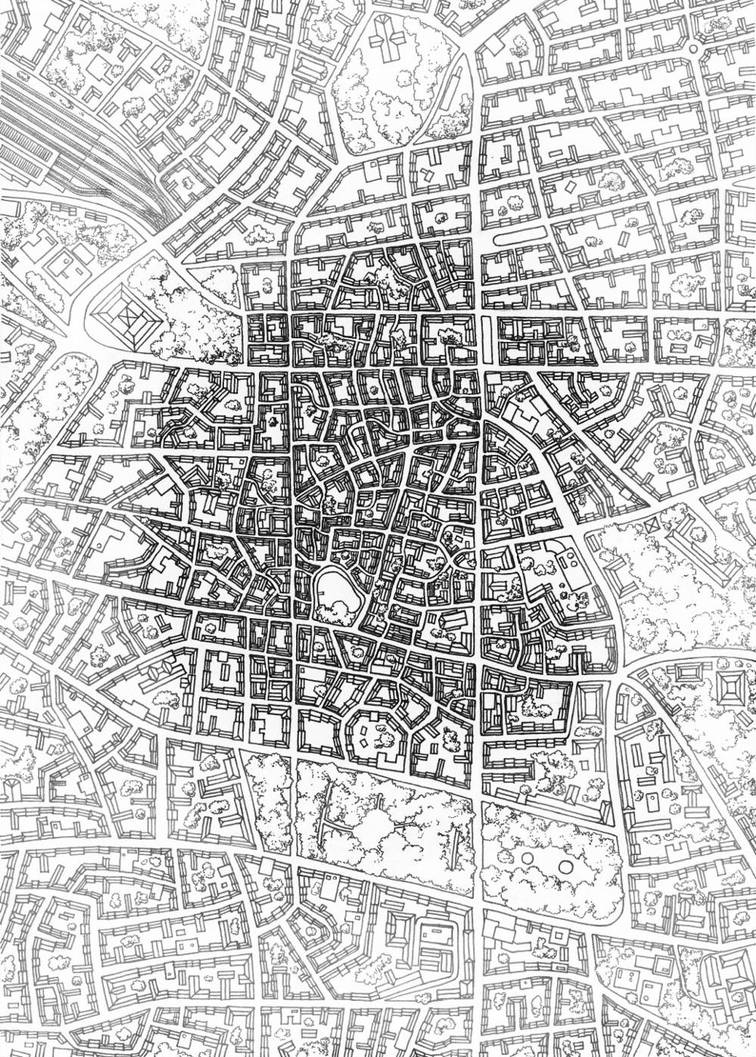 Map of a city by kinobuta