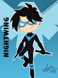 Chibi Nightwing Rebirth by CeeliWorld