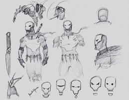Skullz pencil sketches by benedickbana