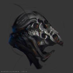 30mins Speedpaint Grotesque Helmet by benedickbana