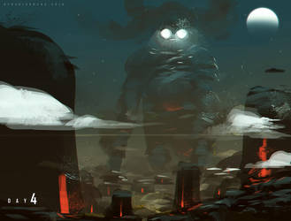 Day 4 Gigantic Ancient Gods by benedickbana