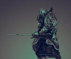 Gaz Knight Templar and his sword Tizona by benedickbana