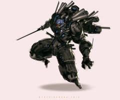 Zen Heavy Flight Assault Mode by benedickbana