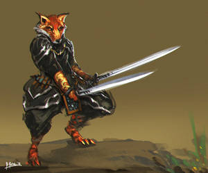 Fox Swordsman by benedickbana
