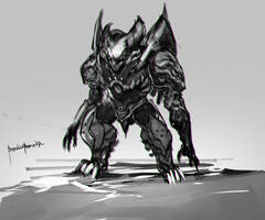 creature design Gilgamon design 2 by benedickbana