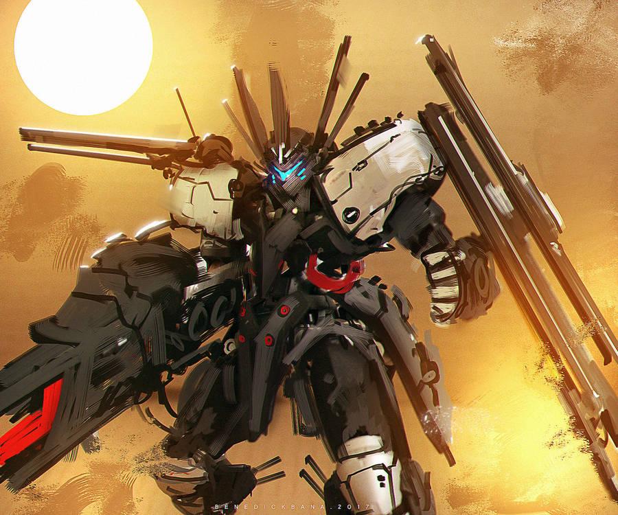 Gundam Fanart Grimgerde MECHA HOUND EX by benedickbana