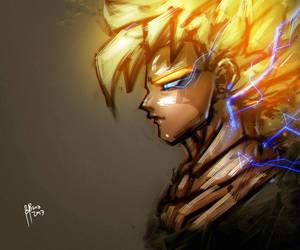 Fanart Dragonball Super Saiyan by benedickbana