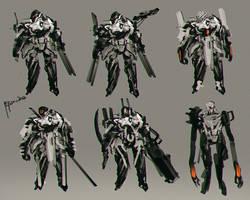 Concept Design Sci-fi   Heavy Armored Unit by benedickbana