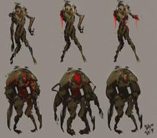 Zombie madness concept art by benedickbana