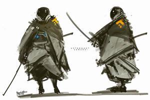 Astronaut Samurai by benedickbana