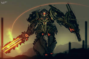 Blaze Zaku Elite Commander by benedickbana