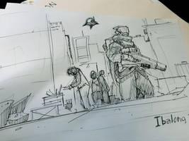 Ibalong Concept Sketch by benedickbana