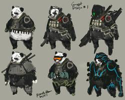 Panda  Soldier concept by benedickbana
