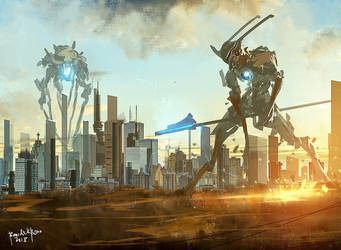 Battle of Mech Titans by benedickbana