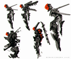 Ryujin  Cyborg Concept Art by benedickbana
