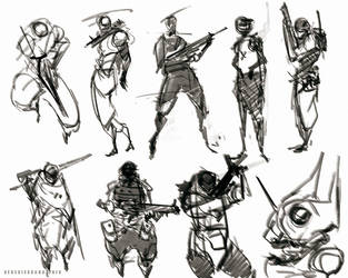 quick sketches soldier design by benedickbana
