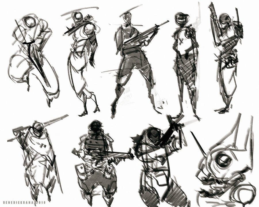 quick sketches soldier design by benedickbana
