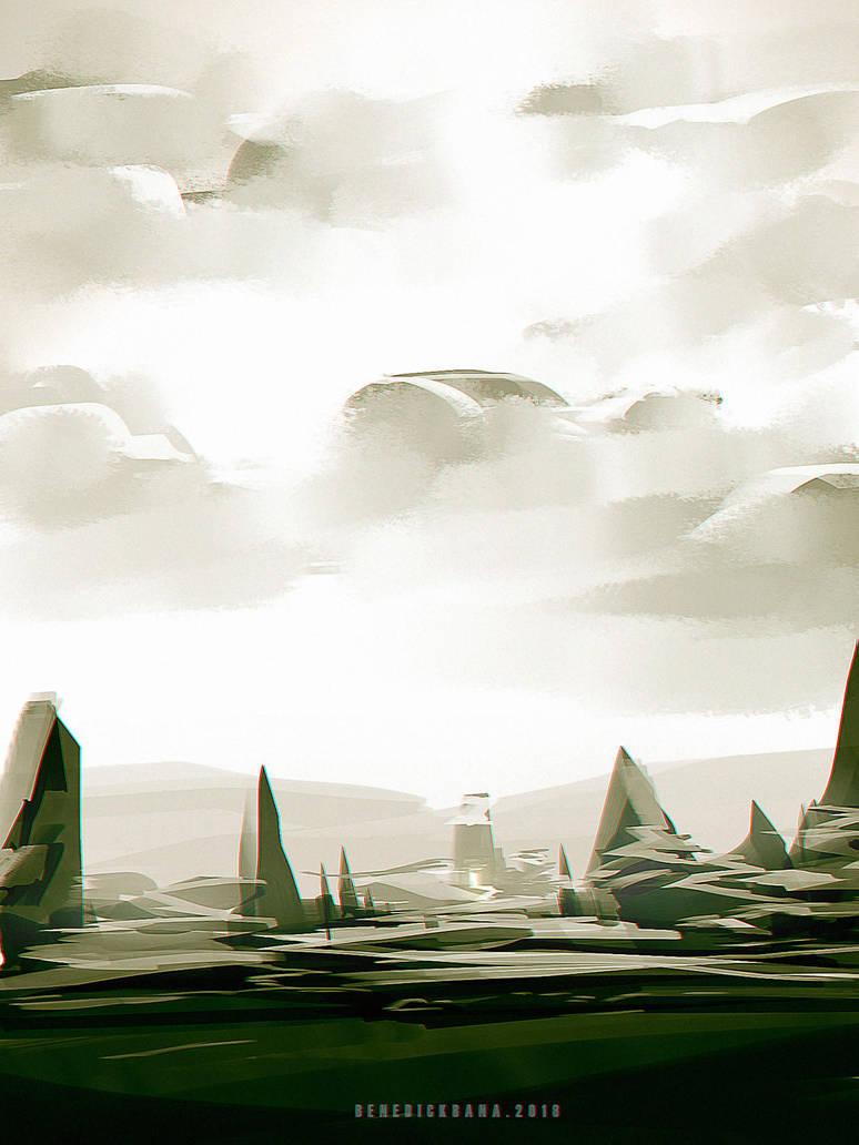 quick sketch Landscape design by benedickbana