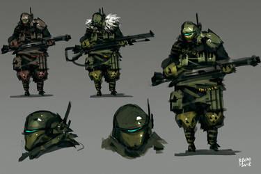 Assault Unit Concept Art by benedickbana