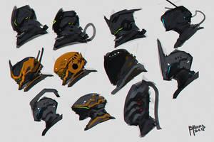 Quick Sketches Helmet Designs by benedickbana