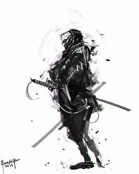 Speedpainting Samurai by benedickbana