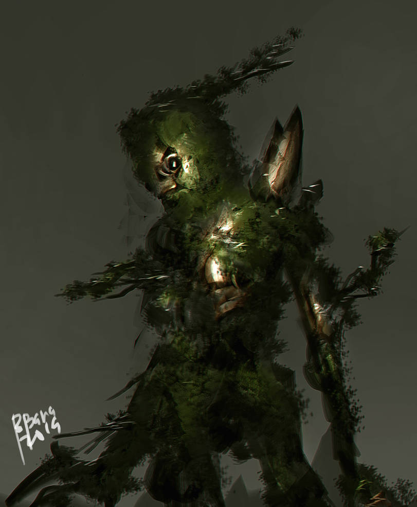 Giant Forest Guardian with WIP by benedickbana