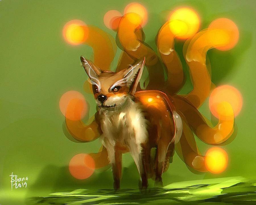 Nine Tailed Fox by benedickbana
