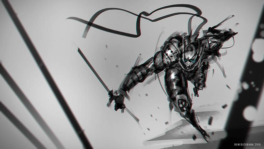 Speedpainting Dark Shinobi by benedickbana