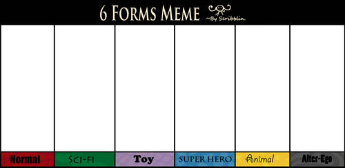 6 Forms meme by scribblin