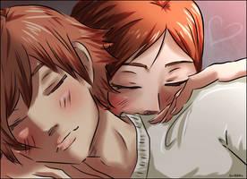 Otani and Risa -sleep by scribblin