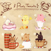 Picnic Teacats collab (closed) by scribblin