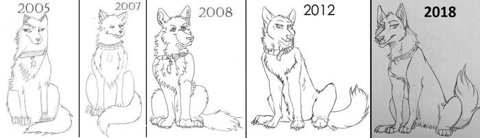 DRAW THIS AGAIN: from 2005-2018 by Zelendur