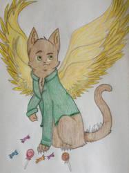 Archangel Gabriel as Cat by NinjaKittenDoodles