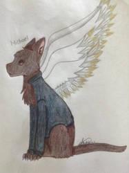 Archangel Michael as a cat by NinjaKittenDoodles