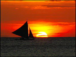 Boracay sunset 1 by SOLshie