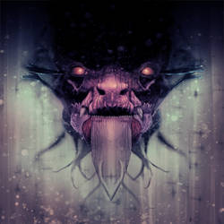 PERIPHERY - JUGGERNAUT dragon head rear cover art by JustinRandall