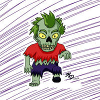 Drawlloween - Day 21: 8-Bit Zombie by MangaKeri