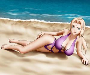 Summer Fun Tsunade by OrionPax09