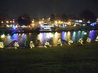 Riverside Christmas Lights by OrionPax09
