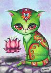 Telekinetic Kitty by katat0nik