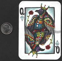Crow Queen of Diamonds by katat0nik