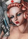The Nurse - Ode to Lempicka by katat0nik