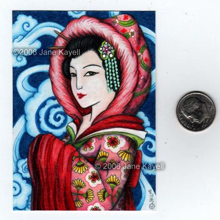Winter Geisha by katat0nik