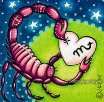 Pink Scorpio - 2' x 2' by katat0nik