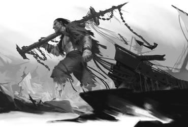 Giant Fishman by JiHunLee