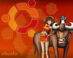 Ubuntu Wallpaper by raveenz