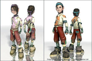 Fable 2 In game kid assets by OmenD4