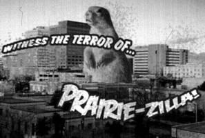 Prairie-zilla Flim Frame by cobaltkatdrone