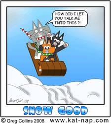 Kat Nap Comic 46 Snow Good by cobaltkatdrone